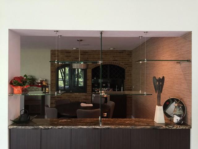 Glass Shelving Contemporary Living Room Denver By Denver Glass Interi