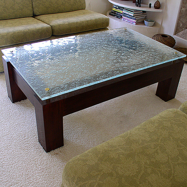 Glass Table Top - Contemporary - Living Room - San Diego ...