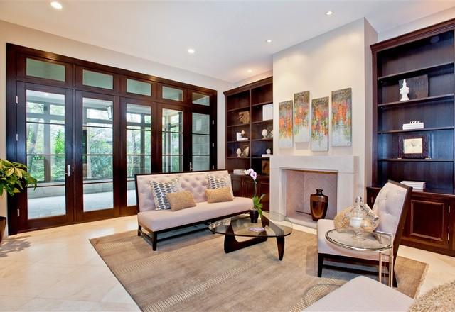 Glencoe Custom Remodel contemporary-living-room