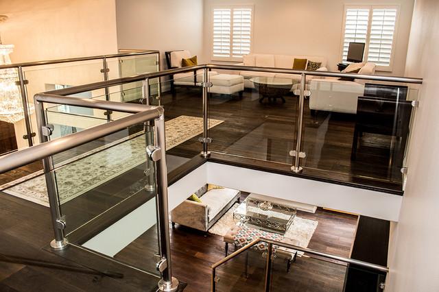 Glendale Glass Railing Loft Addition Contemporary