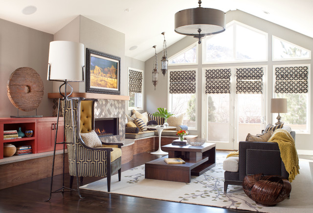 Global Contemporary Eclectic Living Room Denver By Atelier Magnificent Living Room Denver