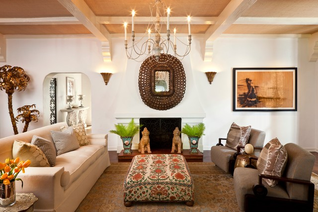 Interior Designers Decorators Global Inspired Oasis Eclectic Living Room