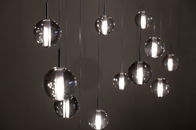 Globe suspension by premiere contemporary living room for Luminaire double suspension