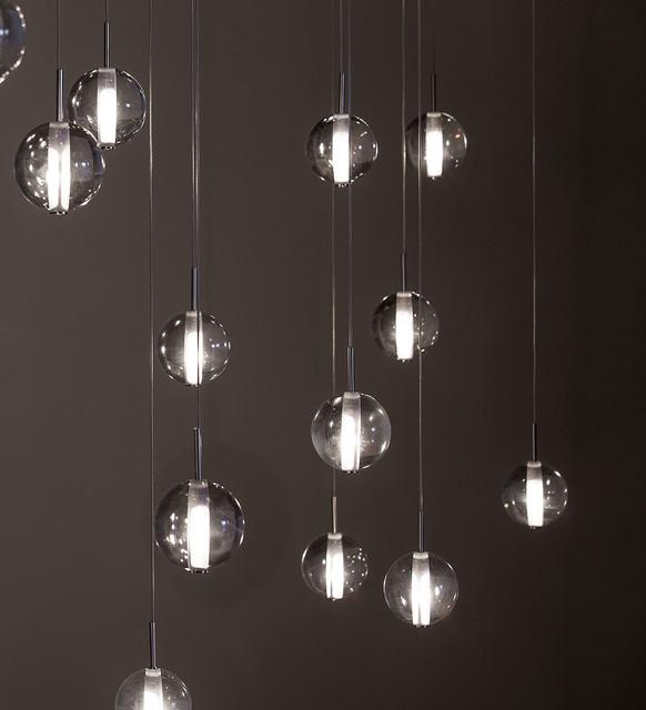globe suspensions modern lighting by premiere contemporain salon montr al par premiere. Black Bedroom Furniture Sets. Home Design Ideas