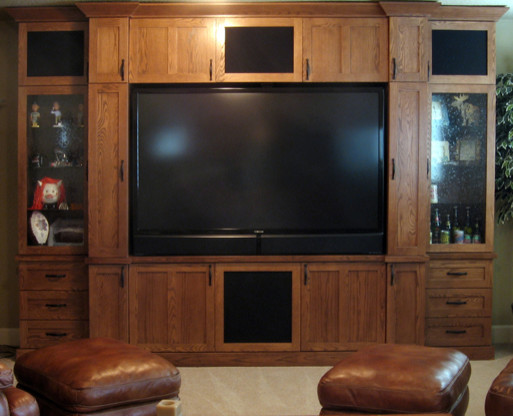 Glorious Wood  (built-in cabinets +) traditional-living-room