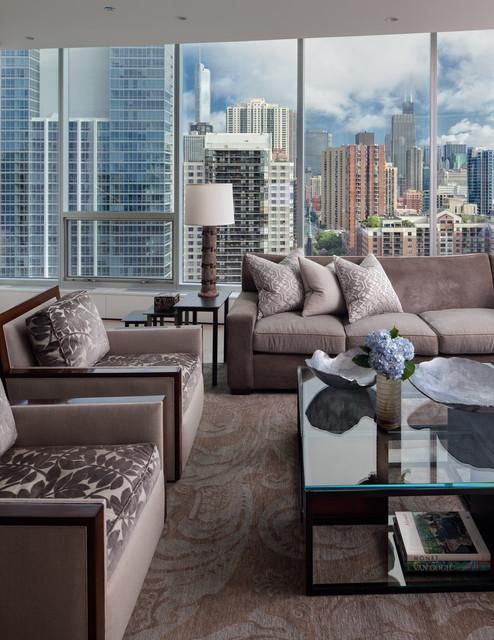 Gold Coast Condo contemporary-living-room