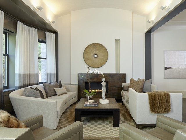 Gold Coast Neutral Transitional Living Room