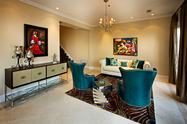 Gold Coast NJ Contemporary Living Room