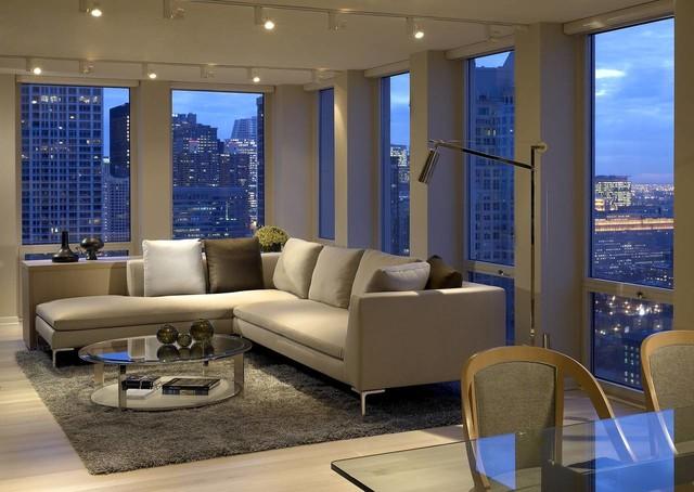 Gold coast pied terre contemporary living room for Interior design gold coast