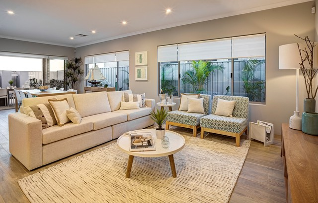Golden Bay Display Home Beach Style Living Room
