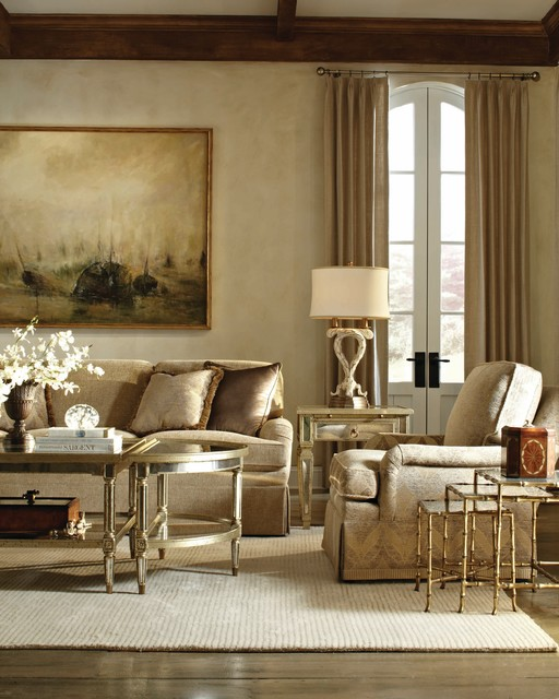 Golden Tones Theodore Alexander Upholstery Transitional Living