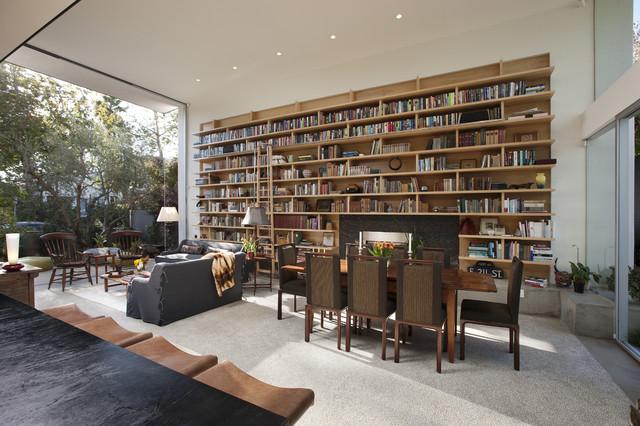 Goodman Residence modern-living-room