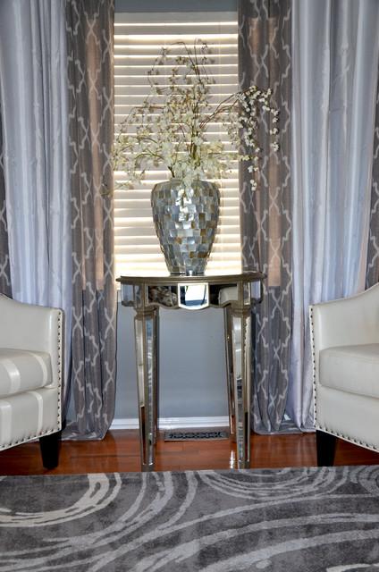 Gorgeous Gray Glitz Transitional Living Room DC  : transitional living room from www.houzz.com size 424 x 640 jpeg 99kB