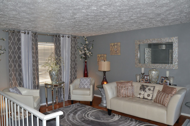Gorgeous Gray Glitz Transitional Living Room Dc Metro By Ola Renee De