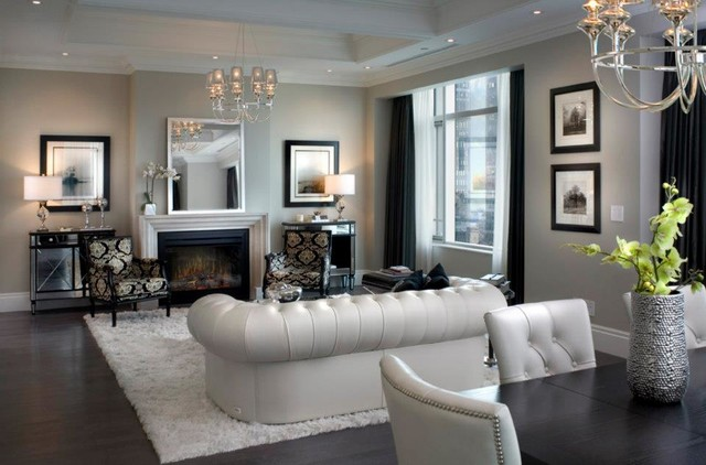 Gorgeous living rooms contemporary living room other metro by electric fireplaces direct - Gorgeous pictures of black white and grey living room decoration ideas ...