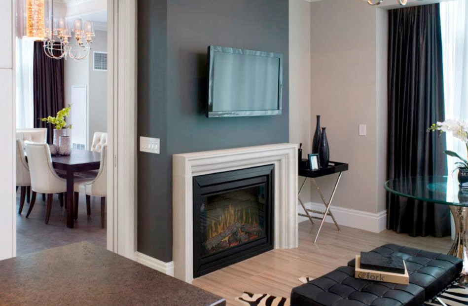 Living Room Electric Fireplace Houzz
