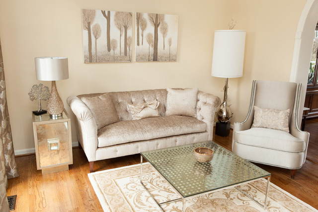 Gorgeous Neutral Living Space In Vienna Eclectic Living Room Dc Metro