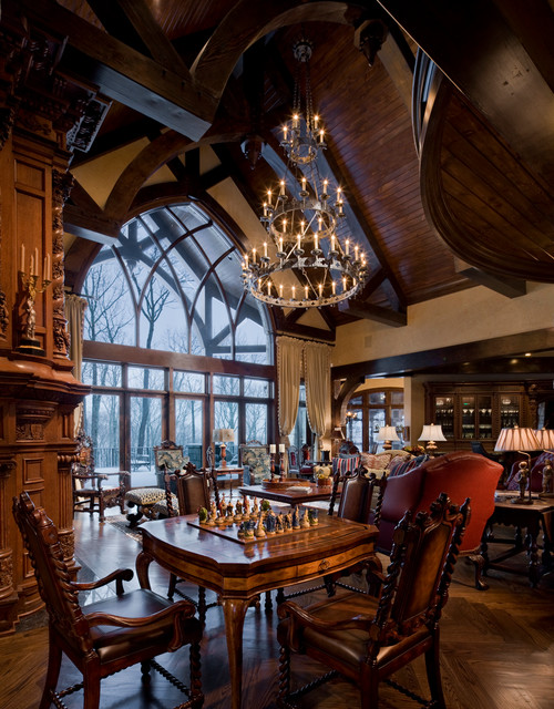 Gothic Castle In The Blue Ridge Mountains Traditional Living Room