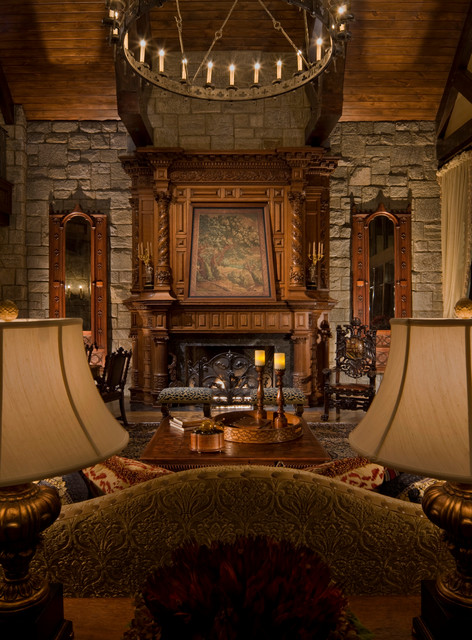 Castle Drawing Room: Gothic Castle In The Blue Ridge Mountains
