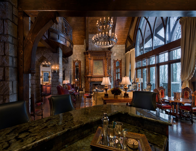 Gothic Castle in the Blue Ridge Mountains - Traditional ...