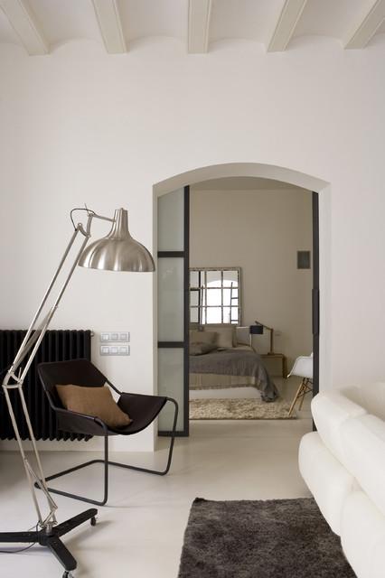 Gothic Quarter Apartment contemporary-living-room