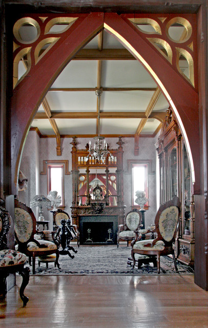 Gothic Style Homes gothic style home - traditional - living room - miami -hull