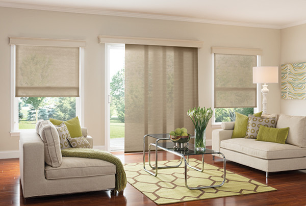 Graber WINDOW PANELS   SLIDING PANEL BLINDS Modern Living Room Part 79