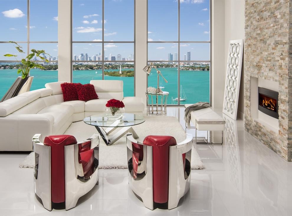 Grace Sofa Meets Aviator Chairs, Dorado Furniture Miami