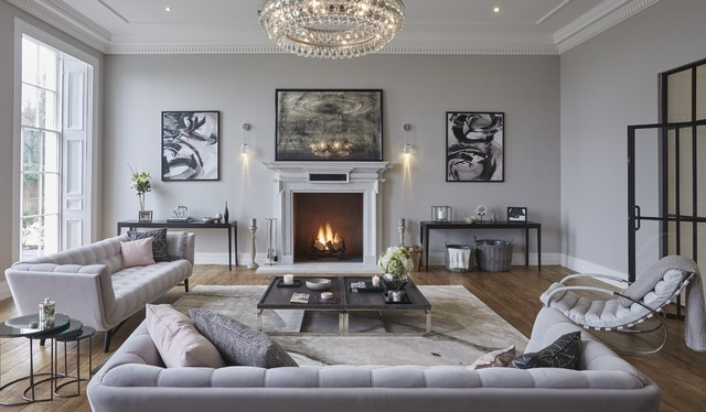 Grade II Listed Hertfordshire Home Contemporary Living Room