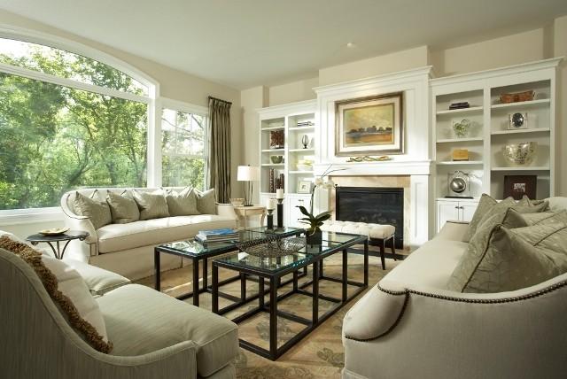 Graham Hill Road Residence Living Room 2 transitional-living-room