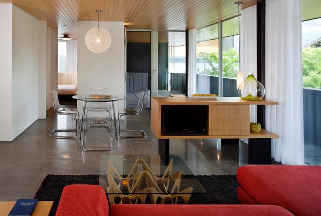 Graham Residence modern-living-room