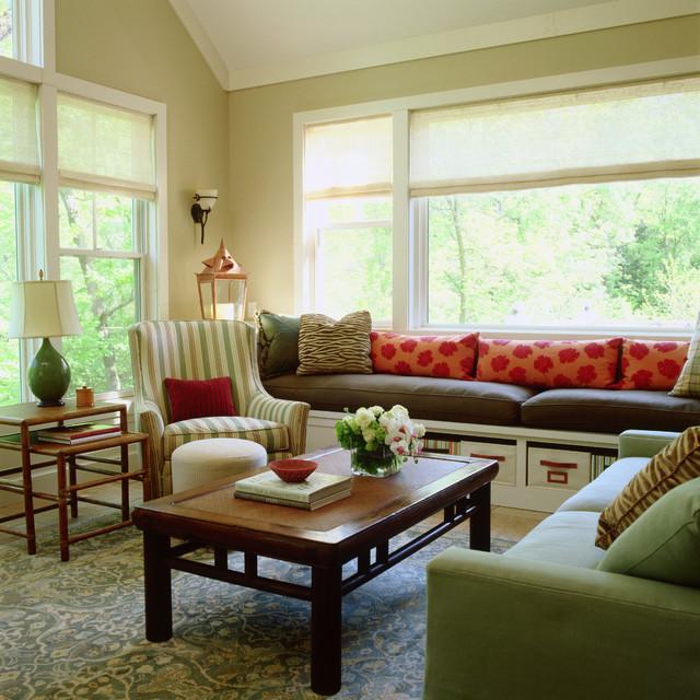 Traditional Living Room Interior Design: Grand Cottage