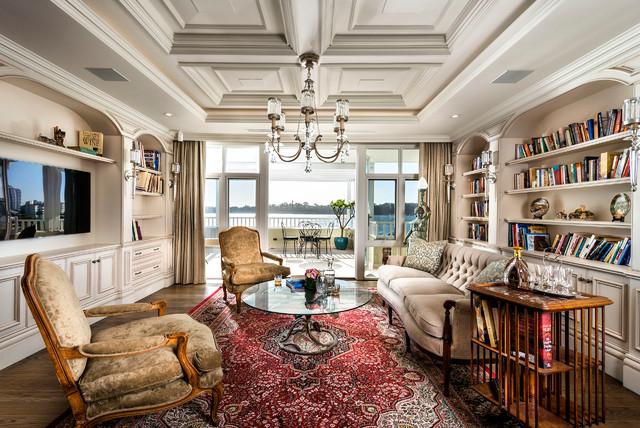 Traditional Living Room Designs Library Medium Hardwood Floors Wall
