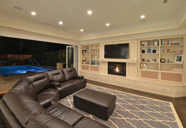 Grand estate in cheviot hills traditional living room for Living room jb