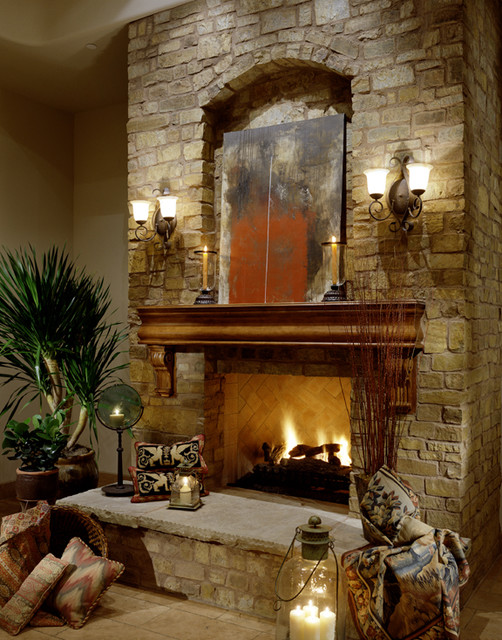 Fireplace in multi million dollar home designed by Luxury fireplaces luxury homes
