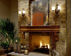 Fireplace in Multi-Million Dollar Home Designed by Fratantoni Luxury Estates mediterranean-living-room