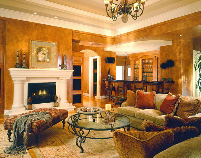 Grand Italian Inspired Estate : traditional living room from houzz.com size 640 x 506 jpeg 151kB