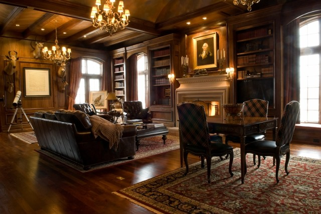 Grand library for Grand living room