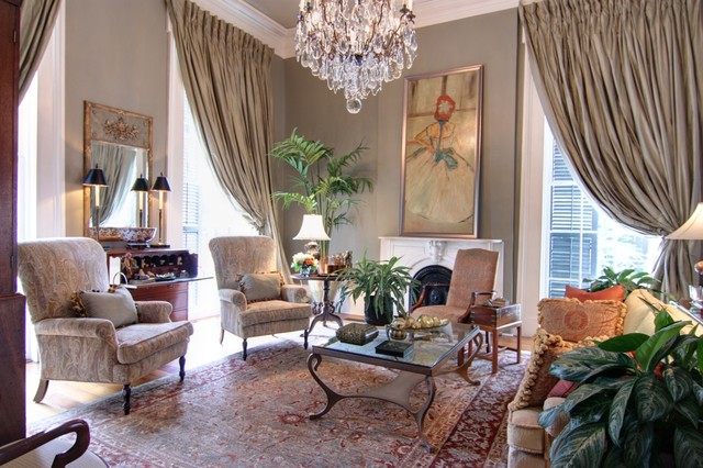 Grand living room traditional living room new - New orleans style bedroom decorating ideas ...