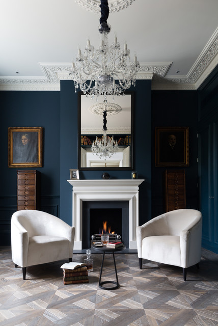 rustic grand victorian living room design | Grand London Residence