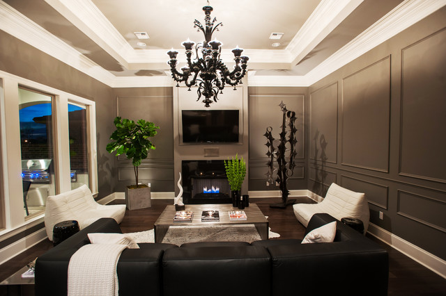 Living room - contemporary living room idea in New Orleans