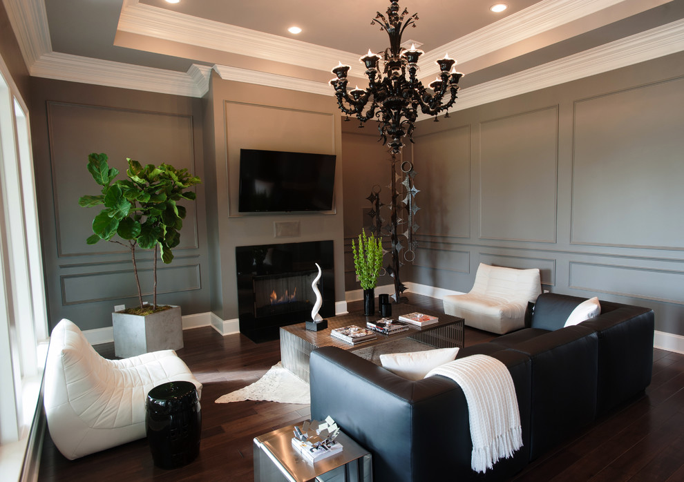 Example of a trendy living room design in New Orleans