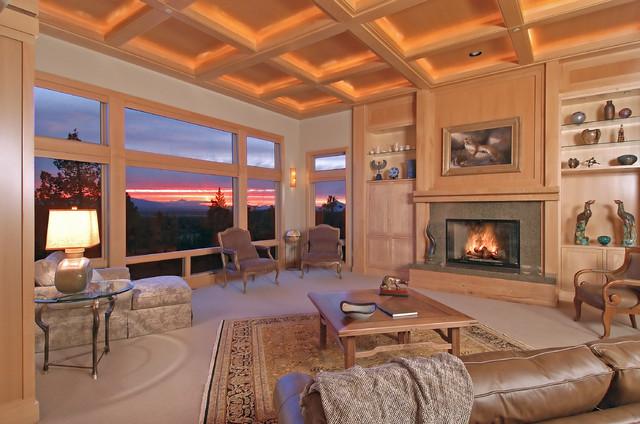 GrandRidge in Bend, Oregon transitional-living-room