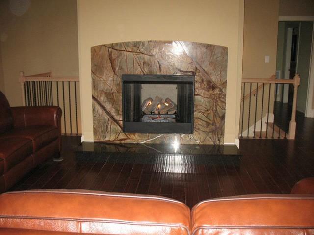 Granite Fireplace living-room