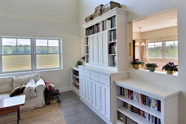"""Granite Hill Project - LEED for Homes """"Gold"""" craftsman-living-room"""