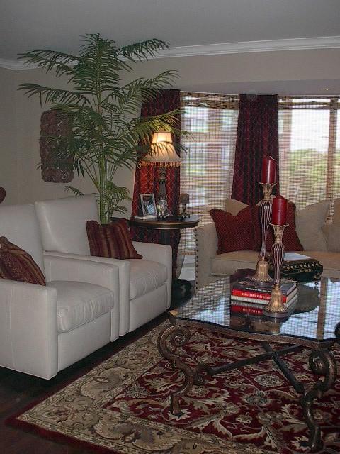 Gray Living room traditional-living-room