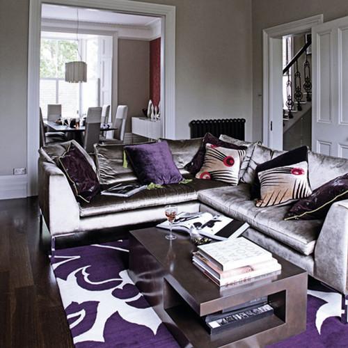 gray purple living rm