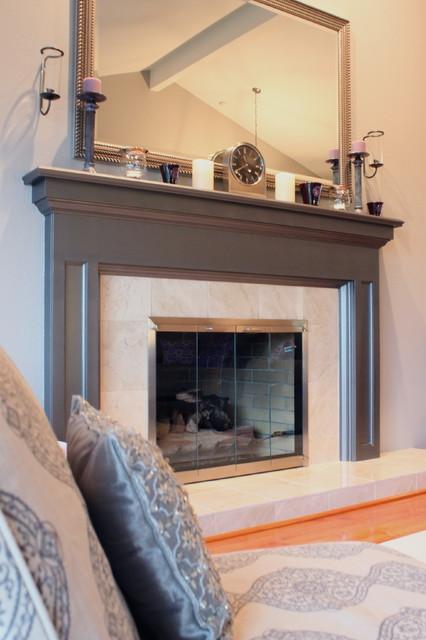 Gray-violet Living Room contemporary-living-room