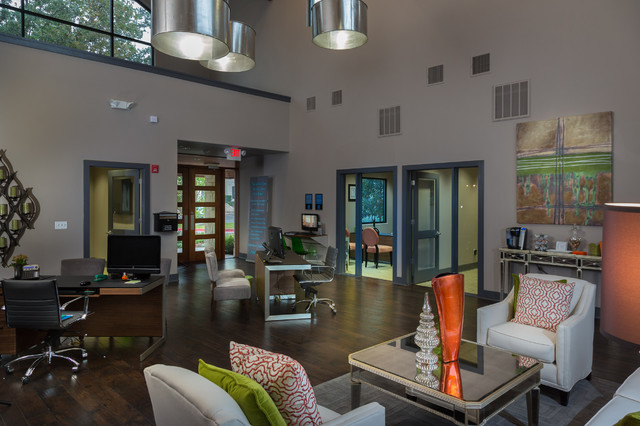 Great Hills Clubhouse contemporary-living-room