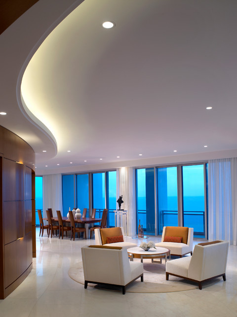 Ocean Penthouse Miami Beach - contemporary - living room - miami ...